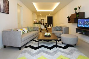 The Shore Hotel & Residences - Three Bedroom Apartment Living Room