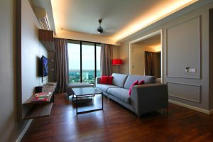 The Shore Hotel & Residences - Three Bedroom Suite (Living Room)